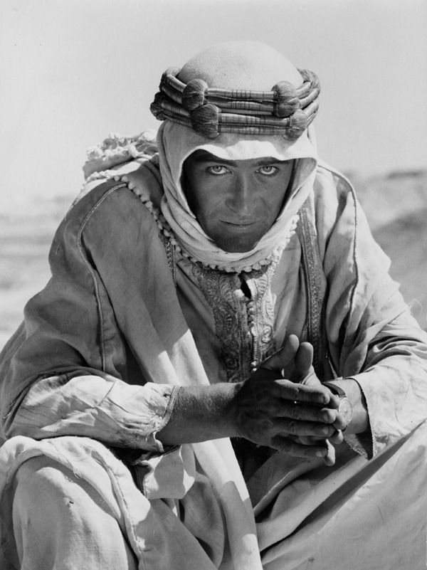 LAWRENCE OF ARABIA, Peter O'Toole, 1962