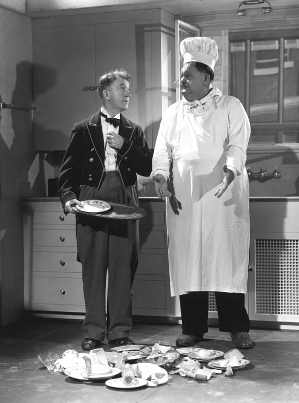NOTHING BUT TROUBLE, Stan Laurel, Oliver Hardy (Laurel and Hardy), 1944